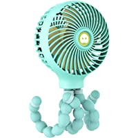 TIM Mini Handheld Stroller Fan, TRELC Personal Portable Baby Fan with Flexible Tripod, 2021 Upgraded Version, Gift for…