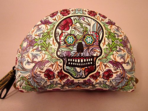 Indigo Desert Ranch - Day of the Dead Coin Purse - Leather Catrina Floral
