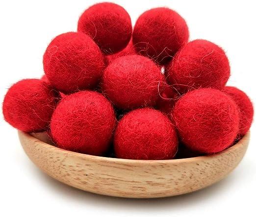 100PCS Pom Pom Wool Felt Balls Hand Beads Nursery Christmas DIY Craft Fashion