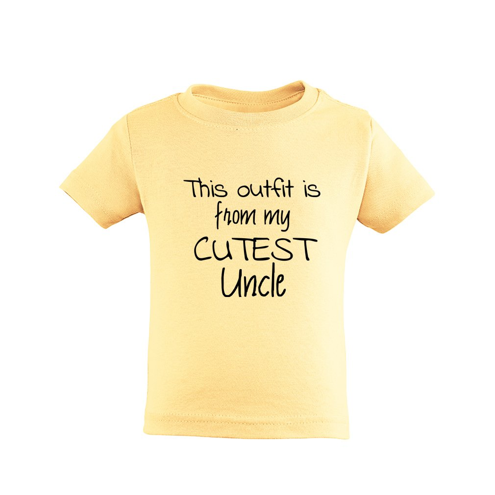Apericots This Outfit is From My Cutest Uncle Short Sleeve Toddler Tee Shirt
