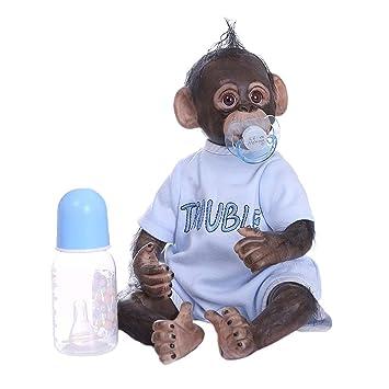 Amazon.es: CUTICATE Bebé Mono Reborn con Botella y Chupete ...