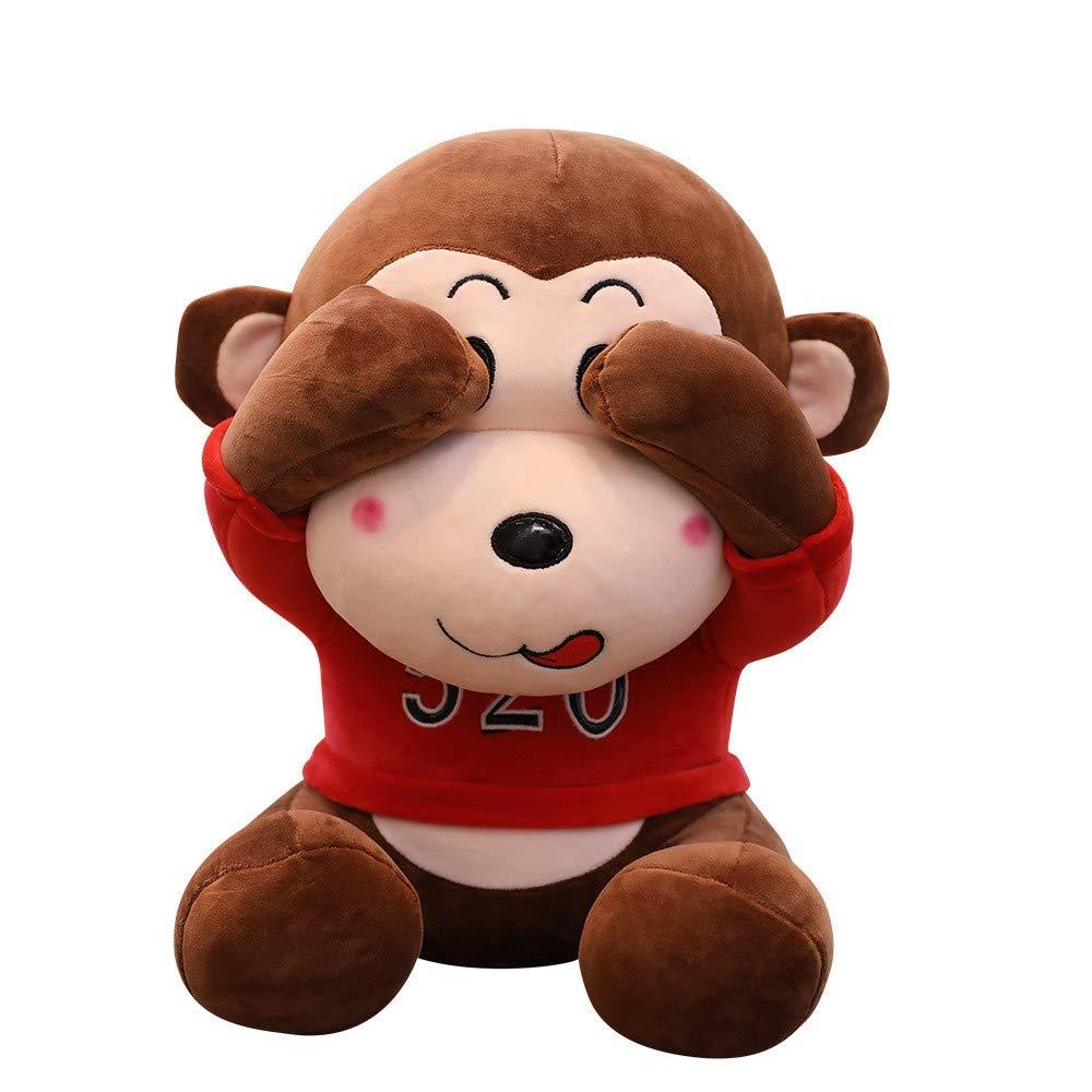 Venta barata 50cm LAIBAERDAN Peluches Cute Three Monkeys Monkey Felpa Niñas Niñas Niñas Regalos De Cumpleaños Cojines, 50 Cm  Más asequible