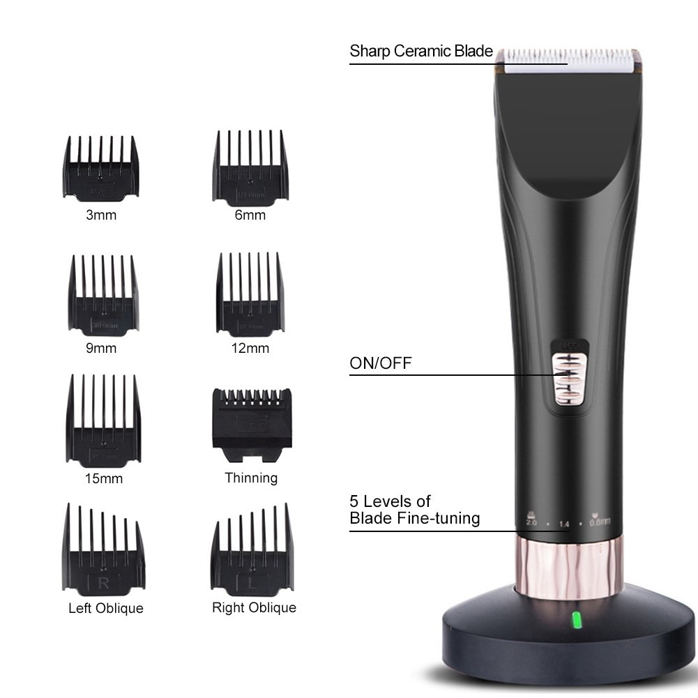 Coedfa /Hair Clippers for Men Cordless Professional Barber,Hair Trimmer Barber ClippersMetal Professional Hair Clipper Electric Cordless Hair Grooming Home Haircut
