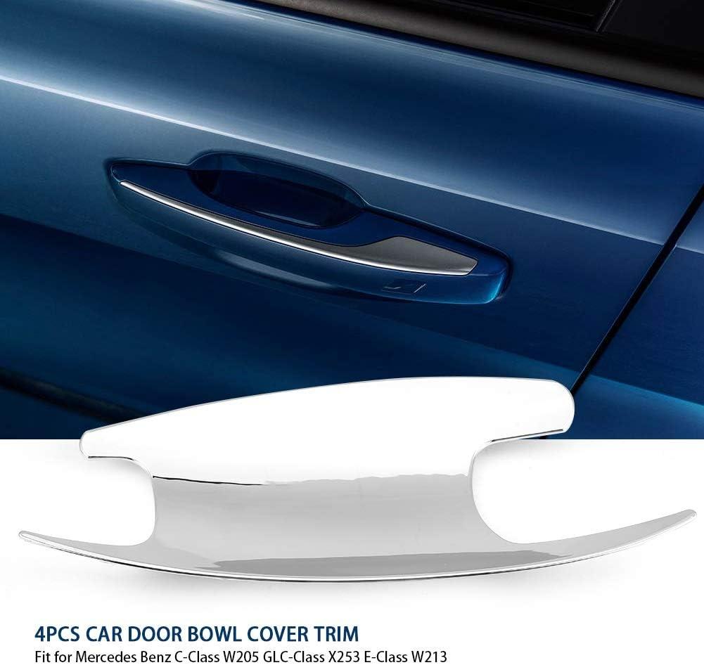 Dibiao 4 piezas de plata ABS del coche manija de la puerta exterior cubierta del taz/ón decoraci/ón para Mercedes C-Class W205 GLC-Class X253 E-Class W213