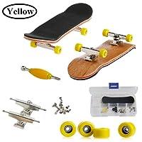 AumoToo Mini Tastiera, Mini tastiera, Skateboard professionale per dita Assemblaggio di assi in legno di acero Assemblaggio di skateboard Giochi sportivi per bambini