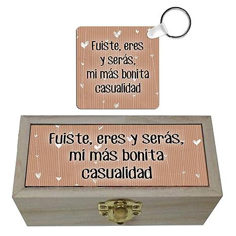 Pack caja y llavero Mi más bonita casualidad. Pack regalo ...