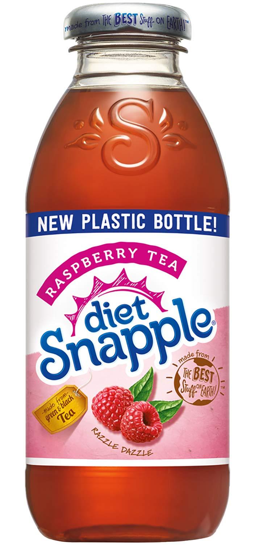 Diet Snapple Raspberry Tea, 16 fl oz (12 Plastic Bottles)
