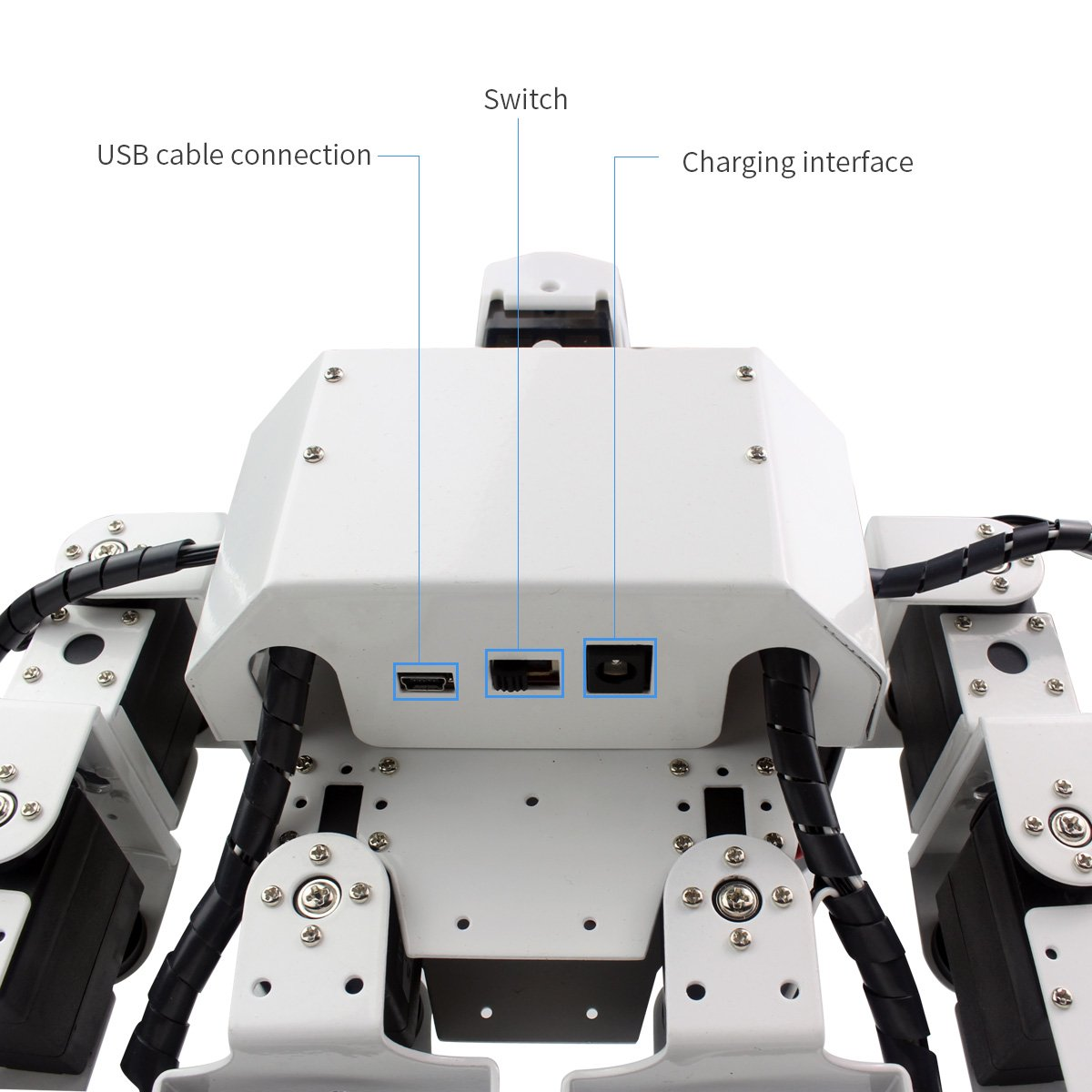 Hiwonder H3S 16DOF Biped Humanoid Robot Kit with Free APP, MP3 Module, Detailed Video Tutorial Support Sing Dance(Assembled) by LewanSoul (Image #5)