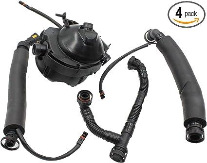 folconroad Crankcase Breather Hose Oil Separator/&Valve Kit Replacement for E87 E86 E90 E91 E60 E65