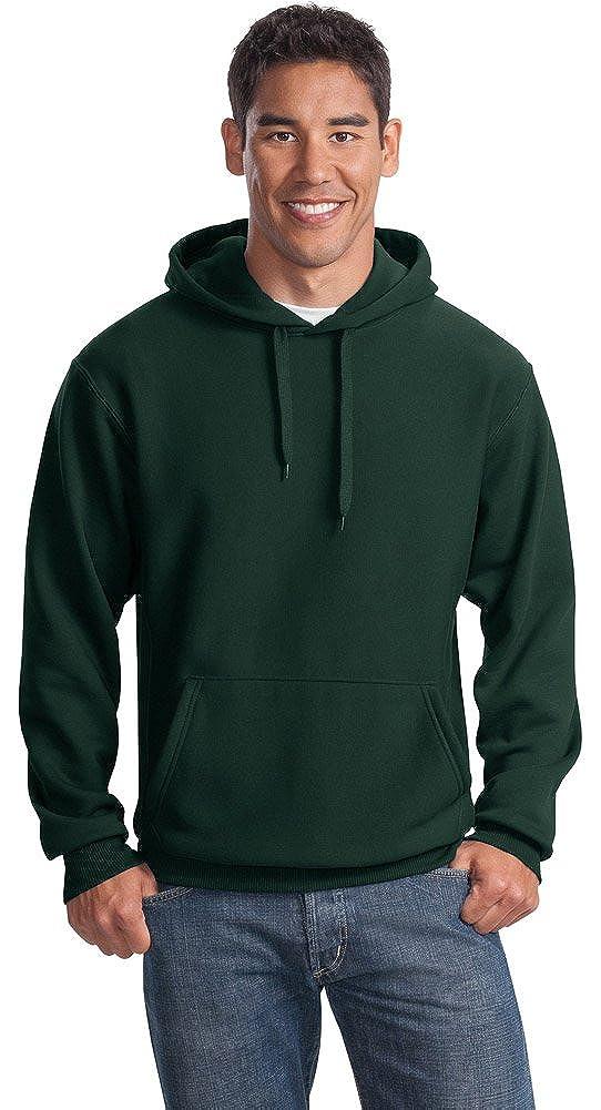 Sport-Tek Mens Super Heavyweight Pullover Hooded Sweatshirt DK Green