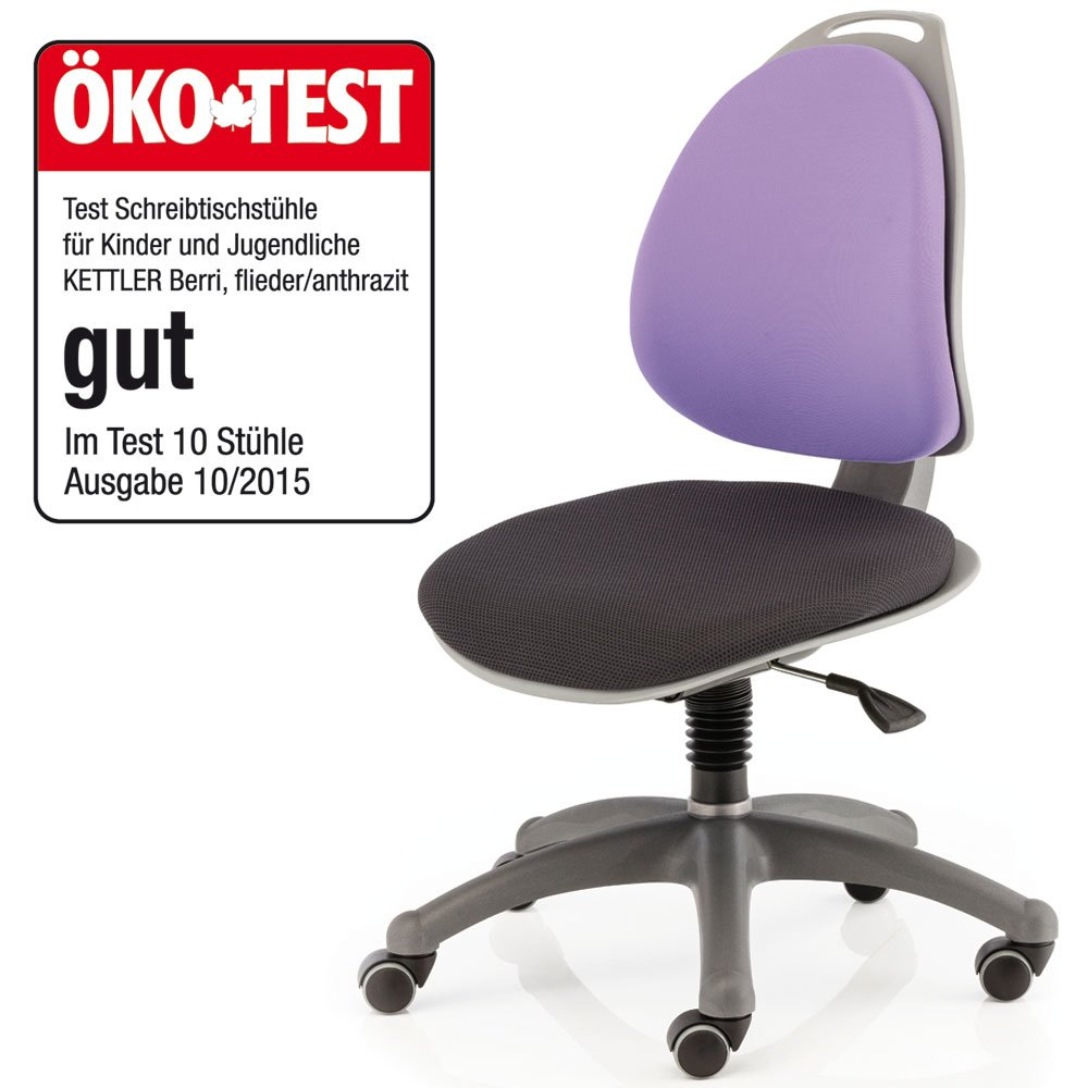 Schreibtischstuhl kinder test  Kettler 06722-060 Drehstuhl Berri blau gestreift / blau, blau ...