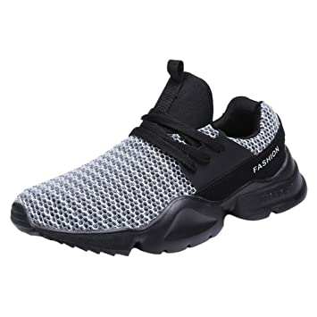 LuckyGirls Zapatos para Hombres Malla Casual Ligero Zapatillas de Correr Running Calzado Deportivo con Cordones: Amazon.es: Deportes y aire libre