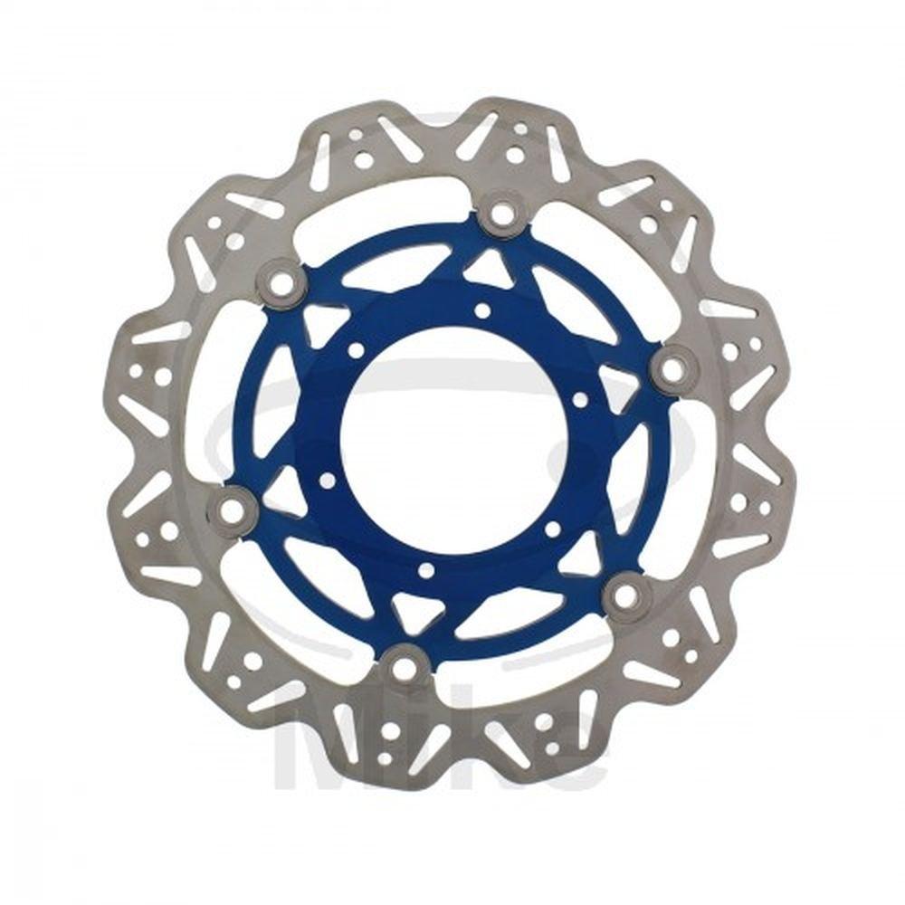 EBC Bremsscheiben INOX VEE-Rotor (eintragungsfrei mit ABE)Ø =296mm / schwimmende Edelstahl Bremsscheibe mit blauer Alu-Nabe