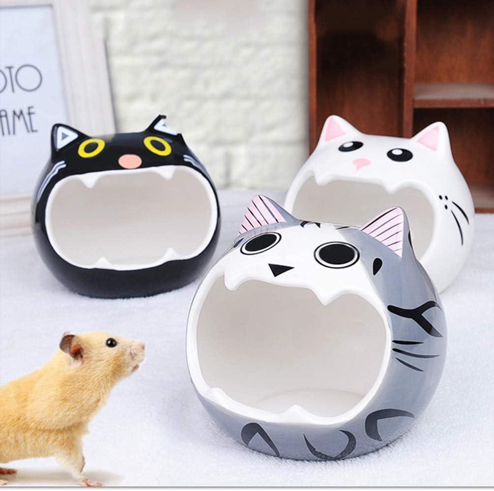 POPETPOP Pet Ceramic Nest Hamster Hideout Nest Summer Cooling Sleeping House for Gerbils Mice Chinchillas
