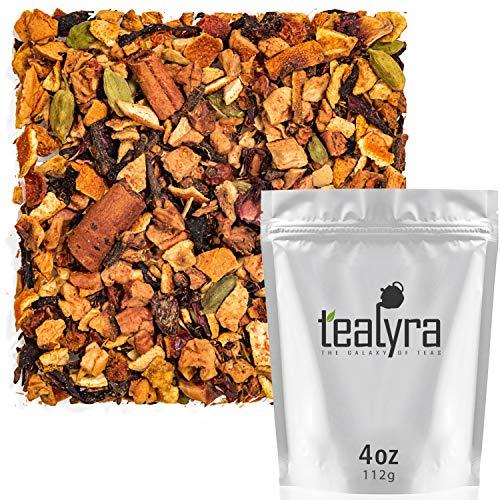 Tealyra - Spiced Wassail - Hibiscus - Cinnamon - Cardamom - Warm Herbal Loose Leaf Tea - Wellness Blend - Caffeine Free - 112g (4-ounce)