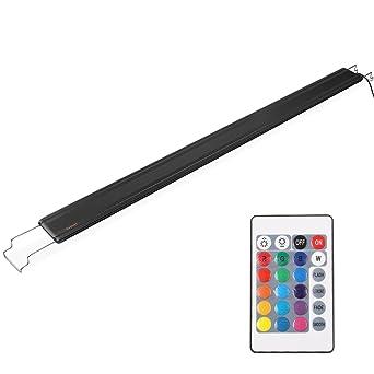 DECKEY Lámpara de Acuario Luces para Acuarios de Peces y Estanques Aluminio 12W 72 LED Se