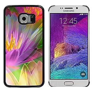Rainbow Vegetación - Metal de aluminio y de plástico duro Caja del teléfono - Negro - Samsung Galaxy S6 EDGE (NOT S6)