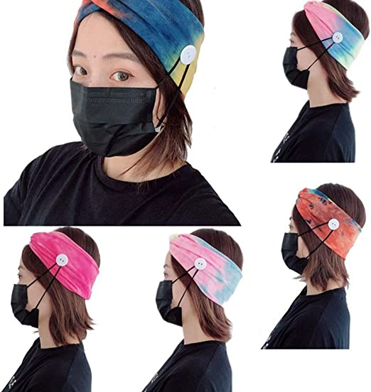 6Pcs Haarreif Damen Haarband Yoga Headband Breit Stirnband Haarreifen für
