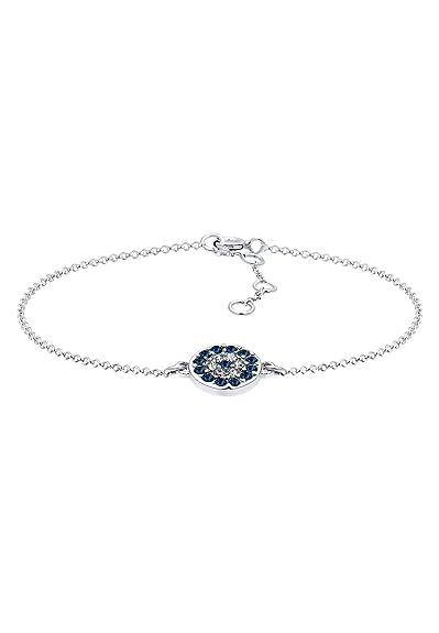 068a42e02057e Elli - Chaîne et Gourmette Bracelet Femme - Argent 925/1000 Cristal  Swarovski - 17cm