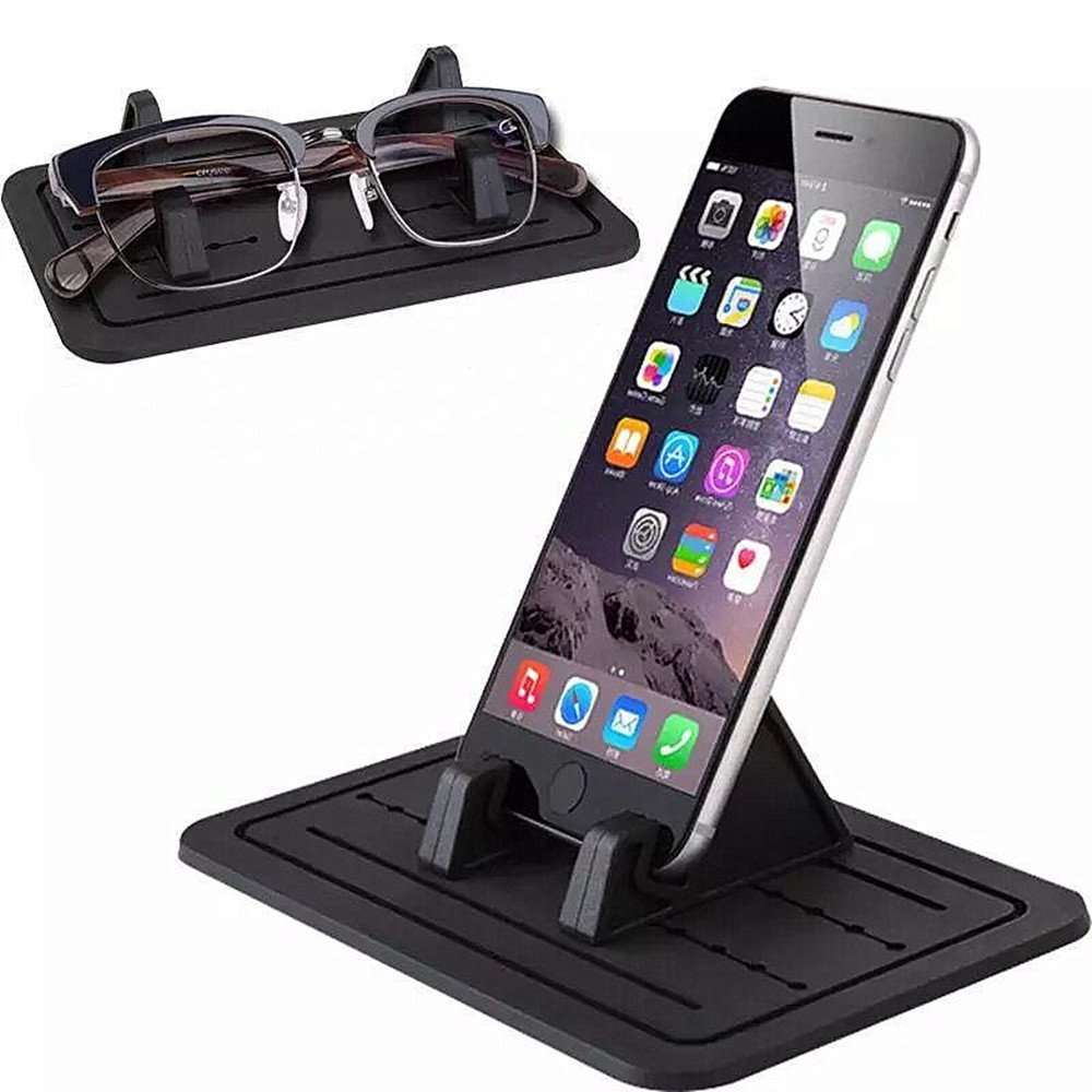 Car Silicone Pads, Yakecan Car Pad holder Dash Mat Cell Phone Mount Holder Cradle Dock For Smartphones, GPS, Glasses