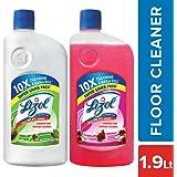 Lizol Disinfectant Floor Cleaner - 975 ml (Floral) with Lizol Disinfectant Floor Cleaner - 975 ml (Pine)