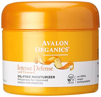 Avalon Organics Intense Defense With Vitamin C, Oil Free Moisturizer 2 Oz by Avalon