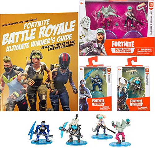 Angel Team Solos Battle Figures Fortnight Ragnarok / Carbide + 2 Pack Love Ranger & Teknique Action Royale Collection + Ultimate Book Winners Guide (Heart 2 Figure Collection)