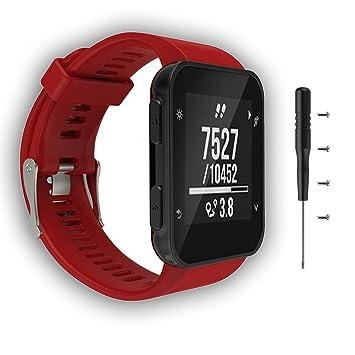 Cyeeson Garmin Forerunner 35 GPS Running Watch Replacement Correa reloj Silicona Blanda Ajustable Banda de pulsera