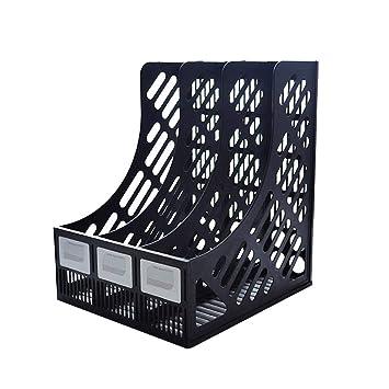 Alian 3 Compartments Organizador Archivador Plástico, Titular de Archivo Soporte de Datos de Columna de Archivo A4 de Oficina.: Amazon.es: Hogar