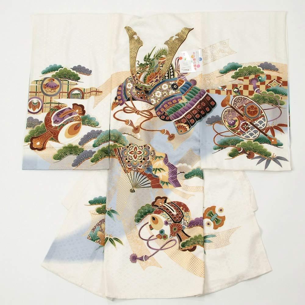 当社の お宮参り着物 のしめ 白色 男の子 正絹 日本製 白色 男の子 兜 日本製 B07PN2WMD9, エキサイティングショップ:66c0dce2 --- a0267596.xsph.ru