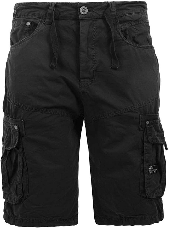 Crosshatch Mens Knee Length Combat Cargo Chino Cotton Shorts