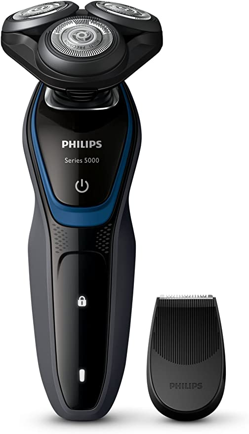 Philips S5100 - Afeitadora (Rotation, Azul, Carbón vegetal ...