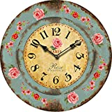 Buggy Chic Wall Clock - Multi-Coloured Cute Retro Style Clock Wall - Vintage Wall Clocks for Living Room-Bedroom and Kitchen ,23inch 58CM