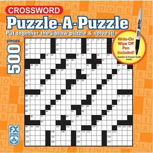 FX Schmid Crossword Wipe-Off Puzzle, 500pc