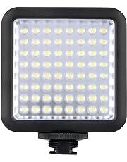 Godox LED64 Luces Luz de Vídeo LED 64 para DSLR Cámara Mini Videocámara DVR como Luz de Relleno para la Boda Noticias Entrevista Macrofotografía
