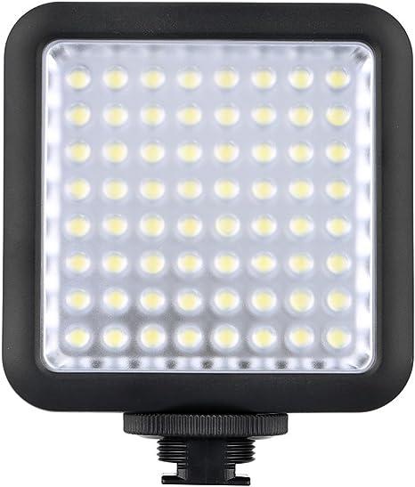 81 LED Video Light mit Adapter zur Montage auf Blitzschuh f/ür Gimbal Stabilizer Kamera licht f/ür Hochzeit News Interview Andoer Videoleuchte,LED Mini Interlock Videoleuchte