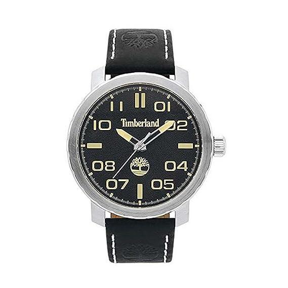 Timberland Reloj Análogo clásico para Hombre de Cuarzo con Correa en Cuero TBL.15377JS/02: Amazon.es: Relojes