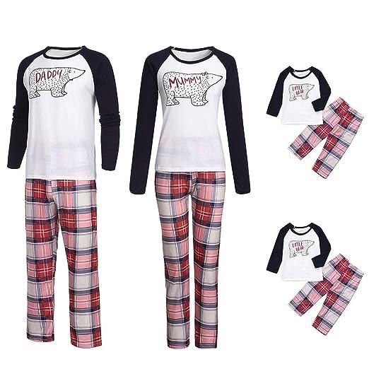 cecc699b4 Amazon.com  Lurryly❤Family Matching Christmas Pajamas Set Cartoon ...