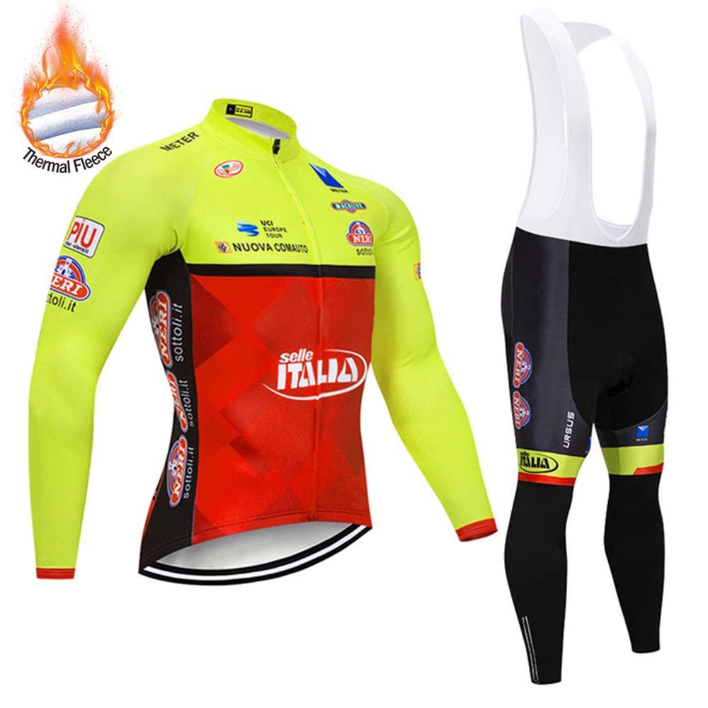 SUHINFE Invierno Ropa de Bicicleta Manga Larga Hombre, Forro ...
