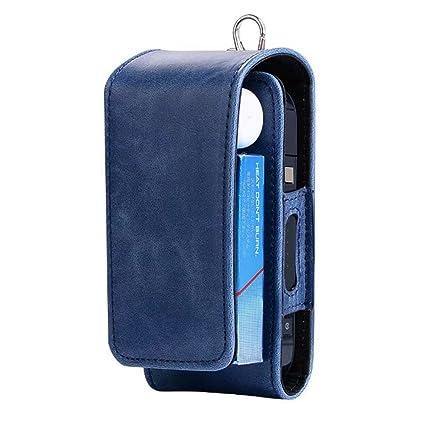 Caja de protección de funda de transporte de piel sintética para iqos cartera caso bolsa de