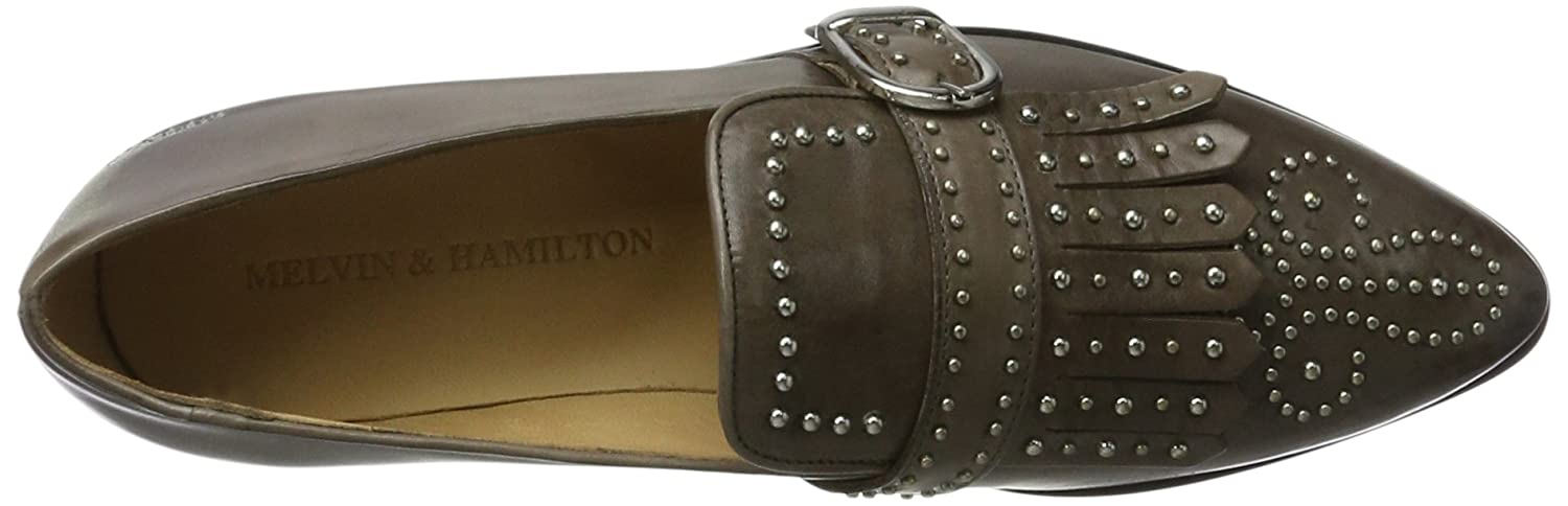 Melvin & Hamilton Jessy 26, Mocassini DonnaGrigio (Crust Stone + + + Rivets And Buckle Nickel Crust Stone + Rivets And Buckle Nickel, Hrs) 7d0e9d