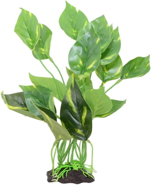 CNZ Aquarium Fish Tank Green Lifelike Underwater Plastic Plant Aquatic Water Grass Decor