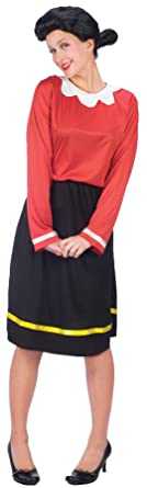 gth womens olive oyl oil popeye theme party fancy halloween costume ml