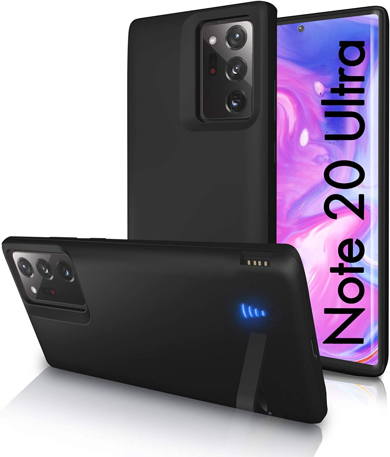 Black/… SlaBao Galaxy Note 20 Ultra Battery Case Pass-Through Charging Case with Kickstand /& USB 6000mAh Portable Backup Charger Case for Samsung Note 20 Ultra 5g Upgraded