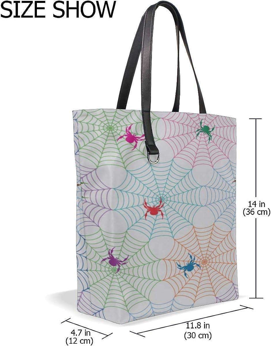 Luggage Shoulder Bag Handle Satchel Tote Travel Purse Messenger Bags Bags Tote Cartoon Insect Crawl Animal Spider Printing Medium Tote Bag For Women