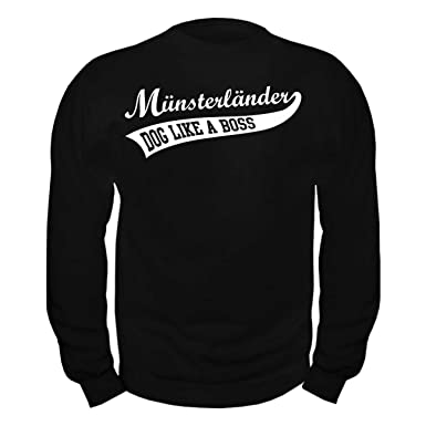 Männer und Herren Pullover Münsterländer BOSS (mit Rückendruck)