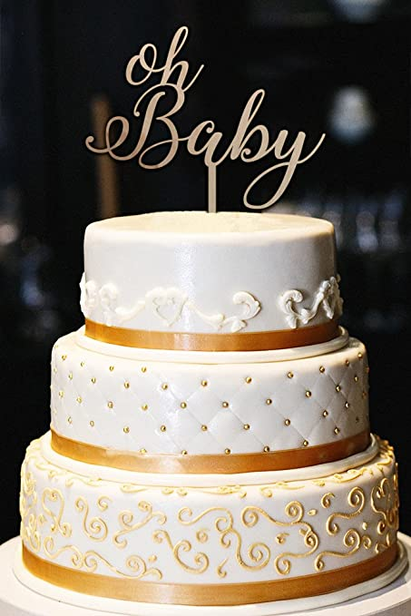 Amazon Oh Baby Cake Topper Wood Cake Topper Baby Shower Cake