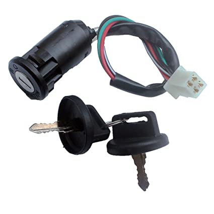 kipa 4-wires male plug ignition switch key with waterproof cap for 50cc  70cc 90cc