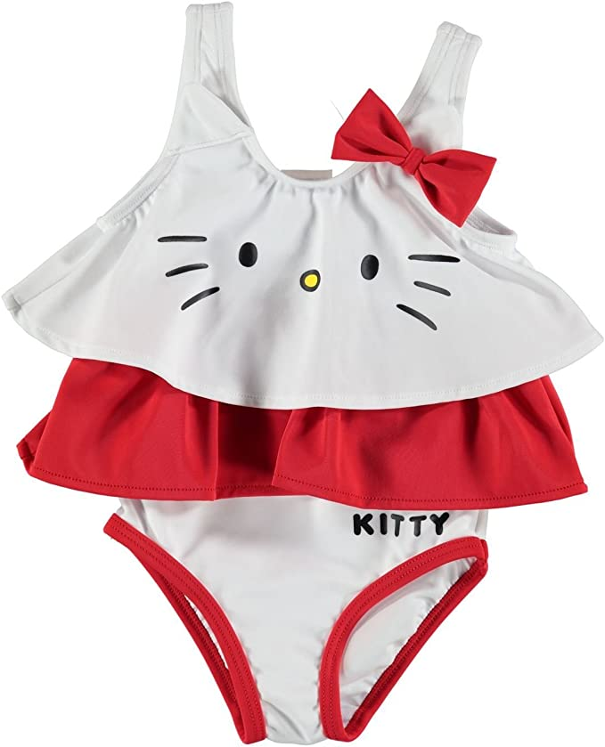 Hello Kitty - Bañador - para bebé niña multicolor White/Red ...