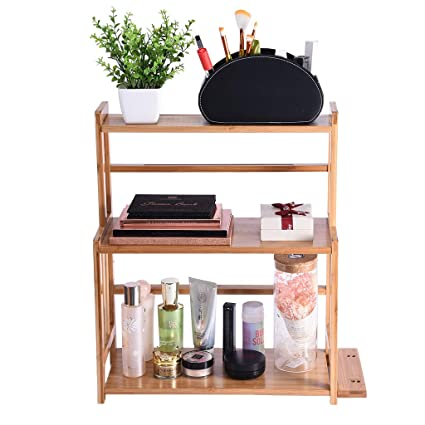 Amazon.com: Rusily 3-Tier Wood Spice Rack Standing Kitchen ...